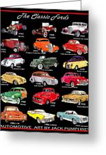 Ford Poster Art Greeting Card
