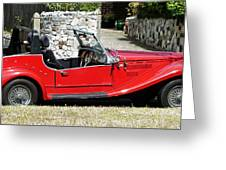 The Classic Red Convertible  Greeting Card