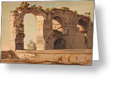 The Claudian Aquaduct Rome Greeting Card