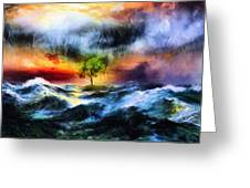 The Clearing Of The Flood Greeting Card