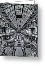 The Cleveland Arcade Viii Greeting Card