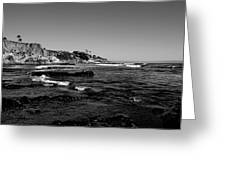 The Cliffs Of Pismo Beach Bw Greeting Card