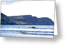 The Cliffs Of Western Eire Greeting Card