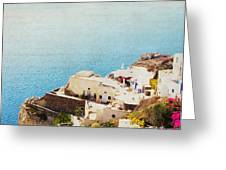 The Cliffside - Santorini Greeting Card