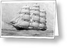The Clippership Taeping Under Full Sail Greeting Card