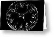 The Clock Greeting Card