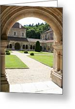 The Cloister Courtyard - Cloister Fontenay Greeting Card