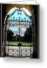 The Gate At Vizcaya Greeting Card