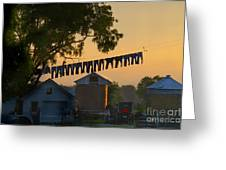 The Clothes Line Greeting Card