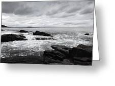 The Cloudy Day In Acadia National Park Maine Greeting Card