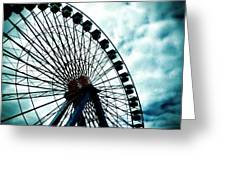 The Cloudy Wheel Greeting Card