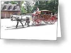 The Coachman Greeting Card