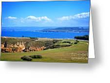 The Coast Of La Coruna Greeting Card