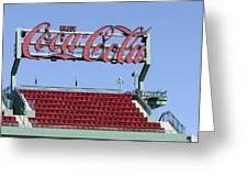 The Coca-cola Corner Greeting Card
