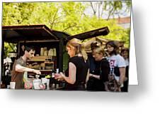 The Coffee Cart Greeting Card