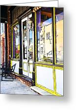 The Coffee Shop Greeting Card by Jim  Calarese