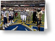 The Coin Toss Greeting Card