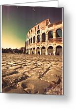 The Coliseum In Rome Greeting Card