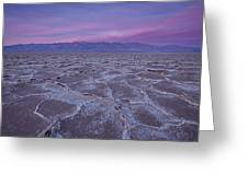 The Color Of Badwater Greeting Card by Tony Santo