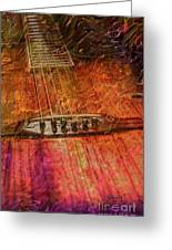 The Color Of Music Digital Guitar Art By Steven Langston Greeting Card by Steven Lebron Langston