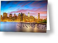 The Color Of New York City Greeting Card