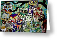 The Color Of Owls Greeting Card