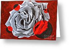 The Color Red Two Greeting Card