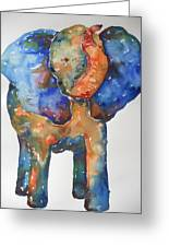 The Colorful Elephant Greeting Card by Brandi  Hickman