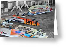 The Colorfulness Of Surfing Greeting Card