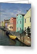 The Colors Of Burano Greeting Card