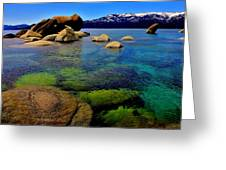 The Colors Of Lake Tahoe Greeting Card