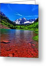 The Colors Of Maroon Bells In Summer Greeting Card