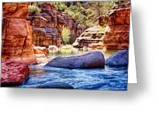 The Colors Of Oak Creek Greeting Card