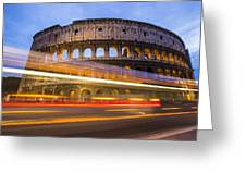 The Colosseum-blue Hour Greeting Card