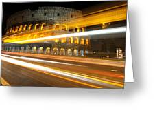 The Colosseum Lights Greeting Card