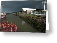 The Columbia River Maritime Museum Sits Greeting Card