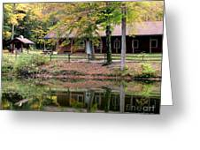 The Commissioners Cabin In Autumn Greeting Card