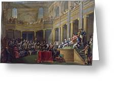 The Committee Of Lyon, 26th January 1802, 1808 Oil On Canvas Greeting Card