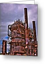 The Compressor Building At Gasworks Park - Seattle Washington Greeting Card by David Patterson