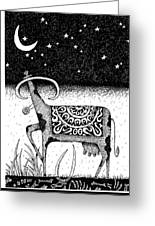 The Constellation Of A Cow Greeting Card by Victor Koryagin