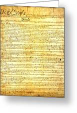 The Constitution Of The United States Of America Greeting Card