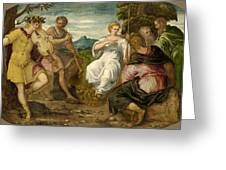 The Contest Between Apollo And Marsyas Greeting Card