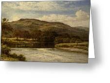The Conway Near Bettws Y Coed Greeting Card