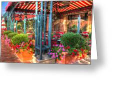 The Corner Cafe Greeting Card