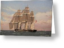 The Corvette Najaden Under Sail Greeting Card