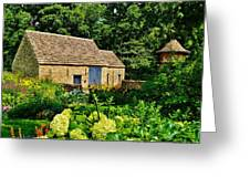 The Cotswald Barn And Dovecove Greeting Card