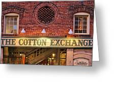 The Cotton Exchange Greeting Card by Cynthia Guinn