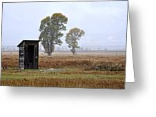 The Country Outhouse Greeting Card