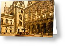The Court House-hamburg-germany - Between 1890 And 1900 Greeting Card