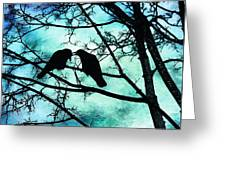 The Courtship Of Crows Greeting Card